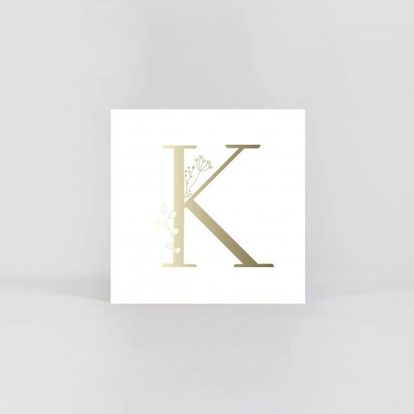 """JO & JUDY – Letter Postcard """"K"""""""