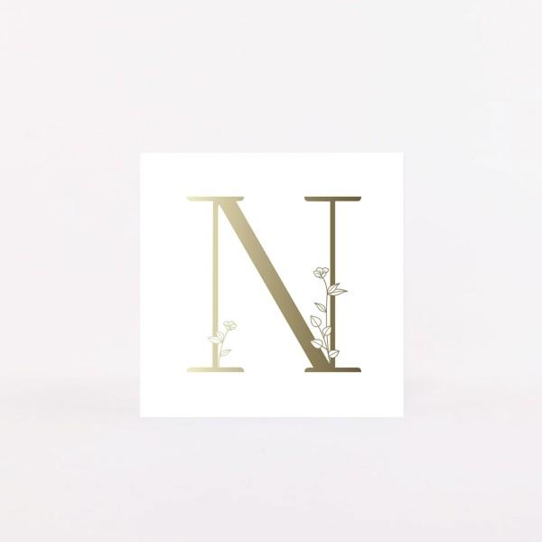 """Letter Postcard """"N"""""""