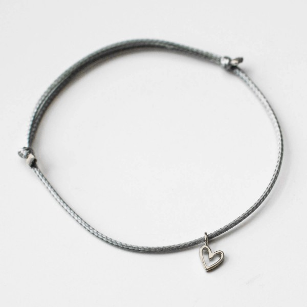 "Glücksbringer Armband ""Heart"" Silber"