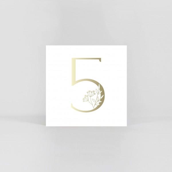 """JO & JUDY – Number Postcard """"5"""""""