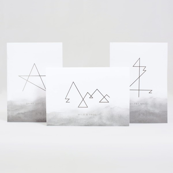 JO & JUDY – Christmas Cards Grey – Set