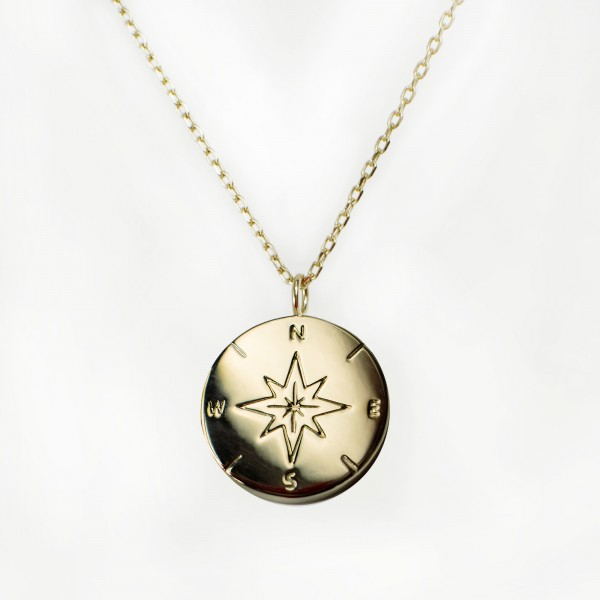 JO & JUDY – Compass Necklace Gold