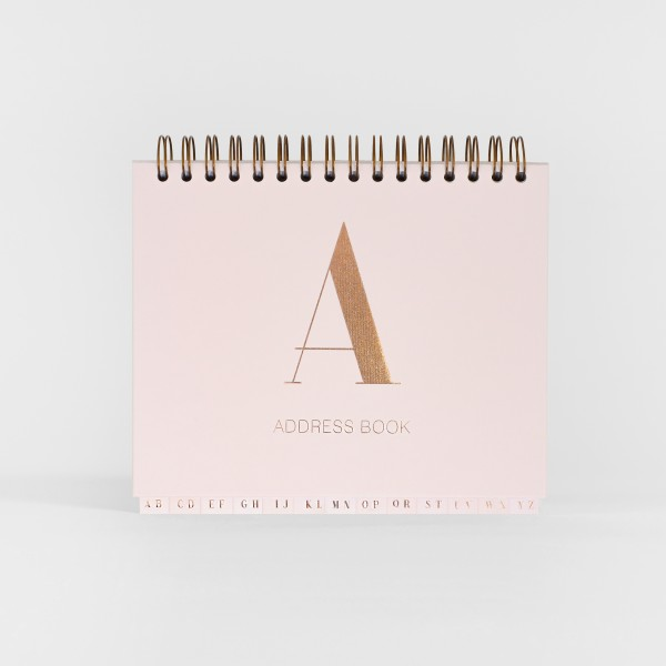 JO & JUDY - Address Book - Light Pink & Rose Gold - Front