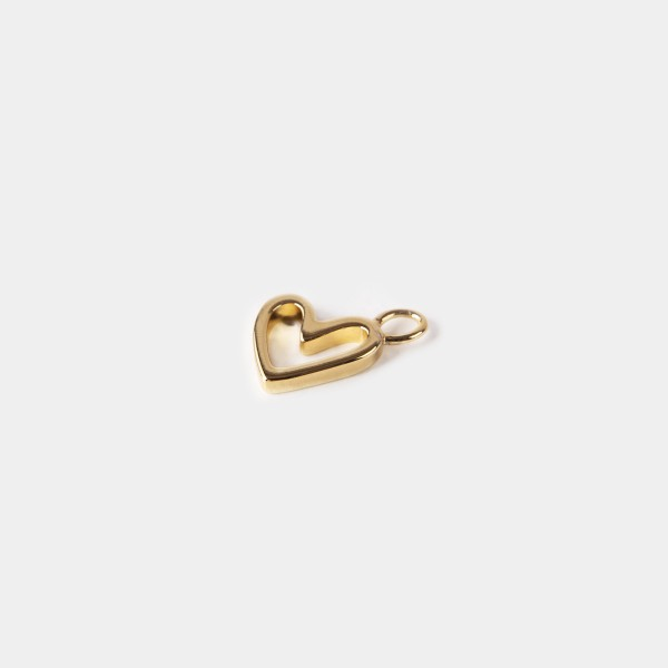 "Hoop Charm ""Floating Heart"" Gold"