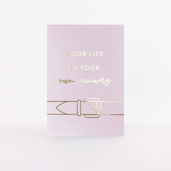 """Postcard """"Runway"""" x Marina Hoermanseder"""