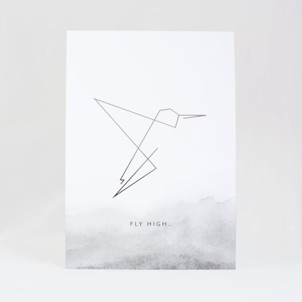 JO & JUDY - Print Grey - Fly High - Front