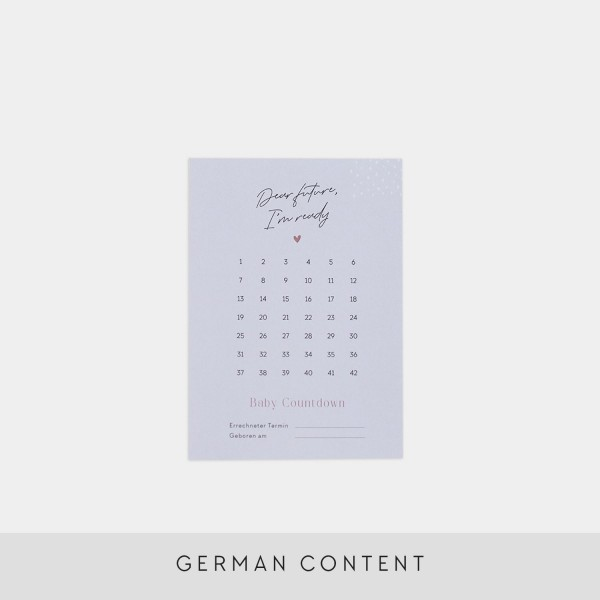 "Postcard ""Baby Countdown"""