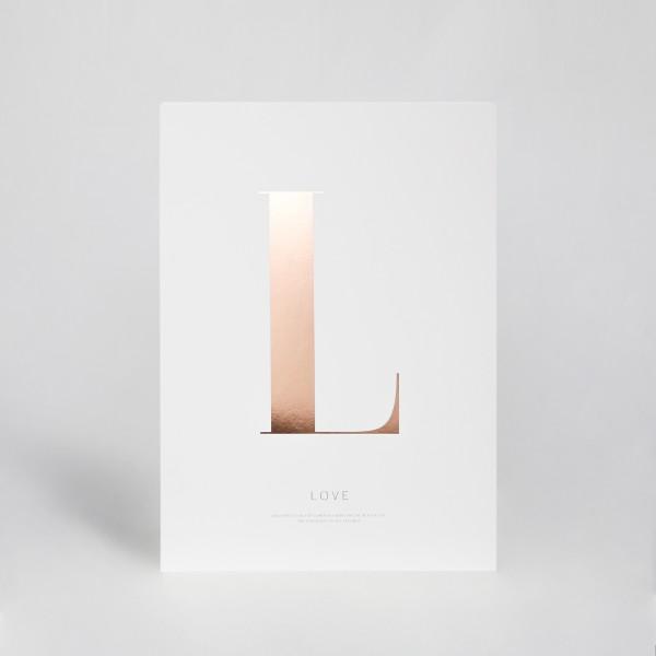 "JO & JUDY - Letter Print ""L"" - Rose Gold"