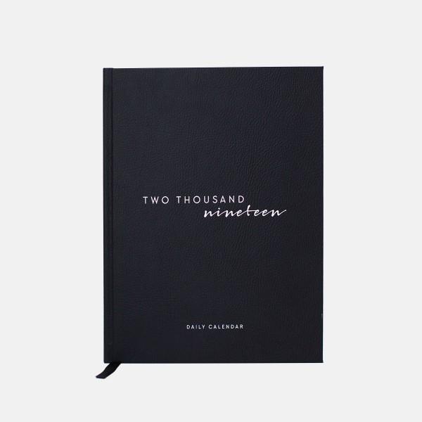 Tageskalender Schwarz & Weiß 2019