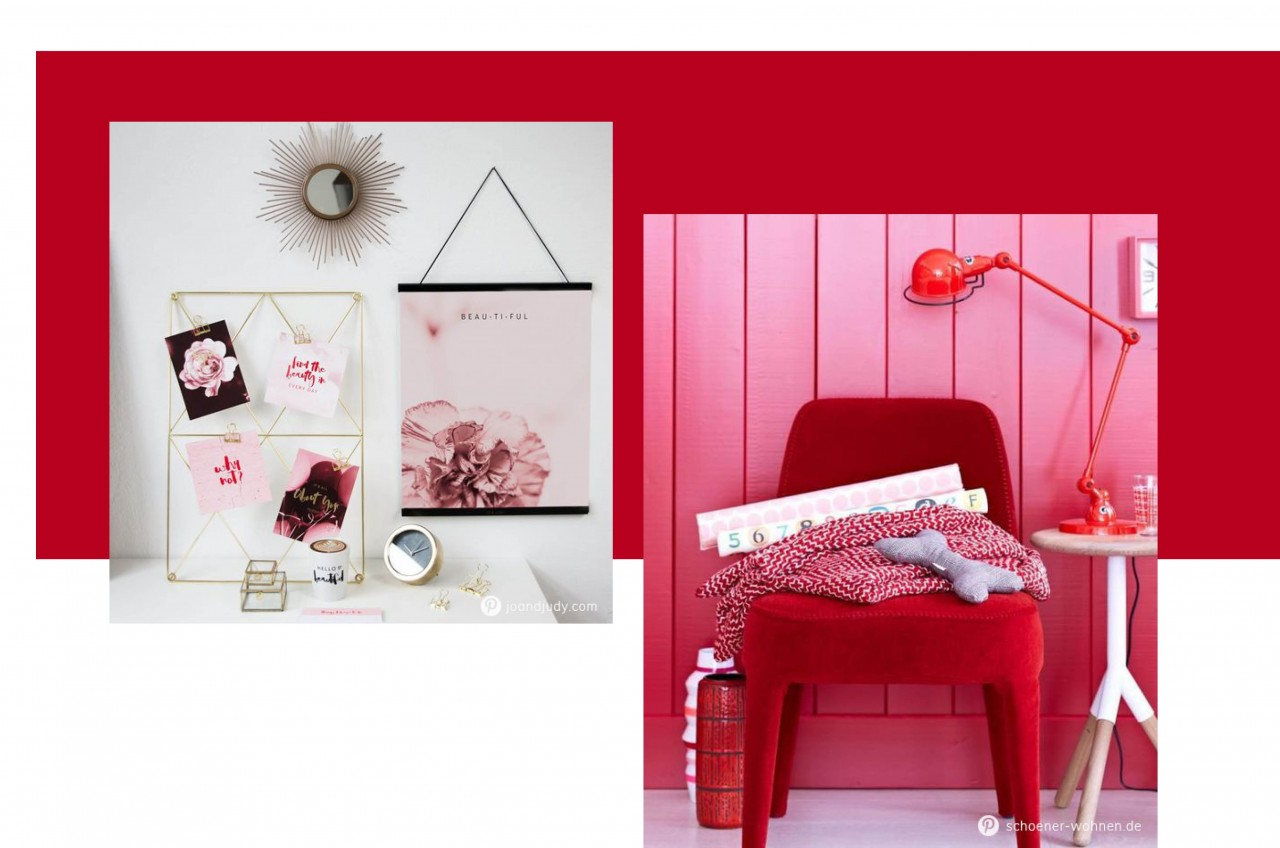 2018 voll im trend rot pink color blocking jo judy. Black Bedroom Furniture Sets. Home Design Ideas