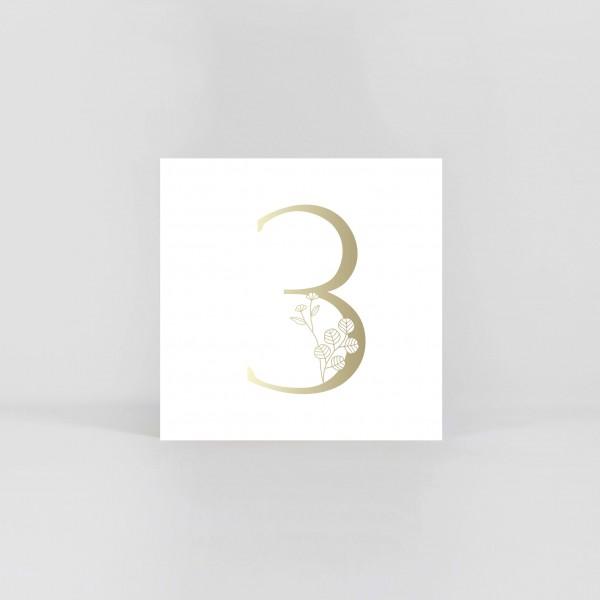 """JO & JUDY –Number Postcard """"3"""""""