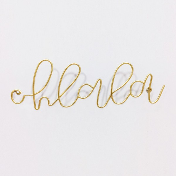 "Wire Lettering Gold ""Ohlala"""