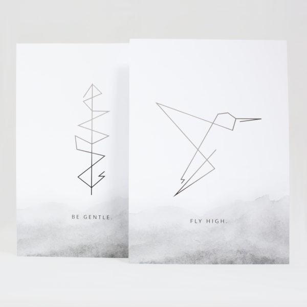 JO & JUDY - Prints Grey - Decoration