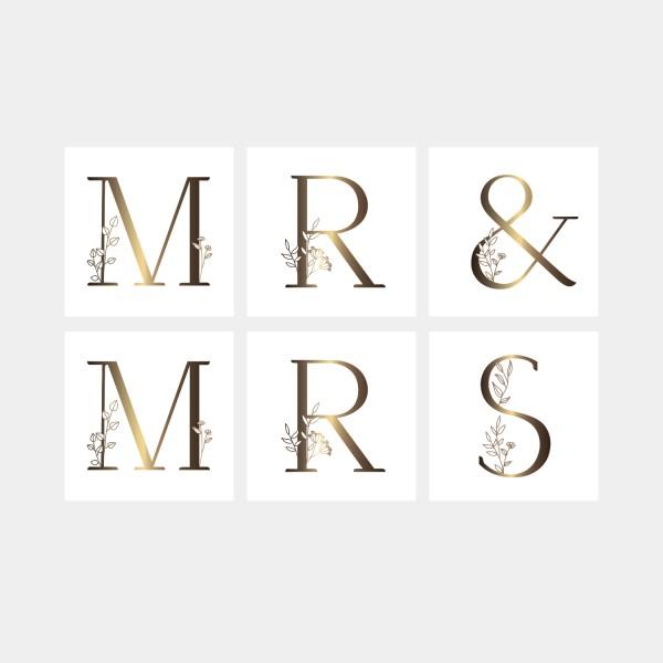 """Postkarten-Set """"Mr & Mrs"""""""