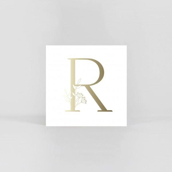 "JO & JUDY – Letter Postcard ""R"""