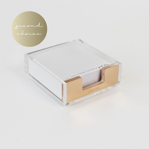 2nd choice - Memo Box Gold