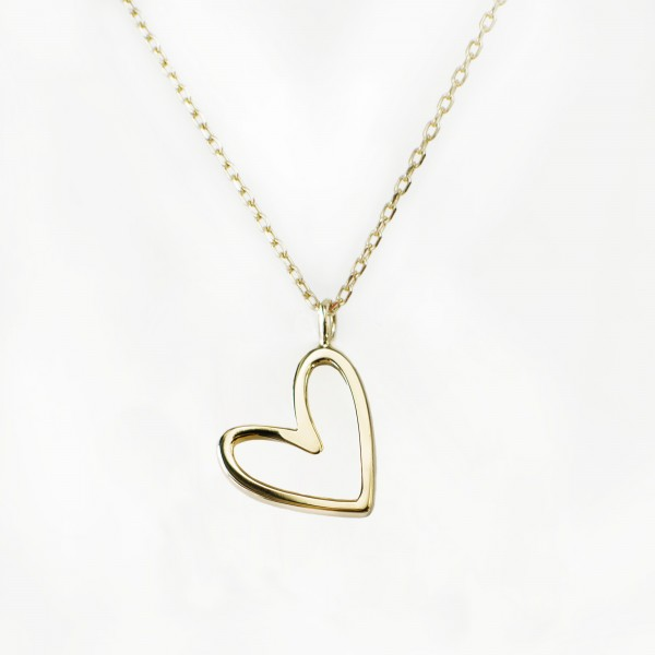 JO & JUDY – Floating Heart Necklace Gold