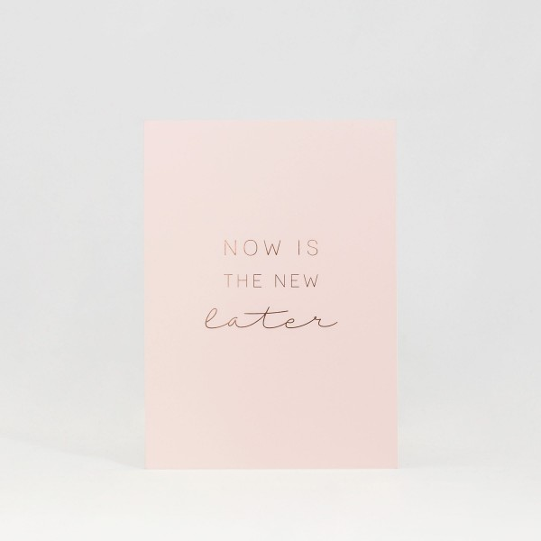 "JO & JUDY - Card ""Now"" - Light Pink - Front"