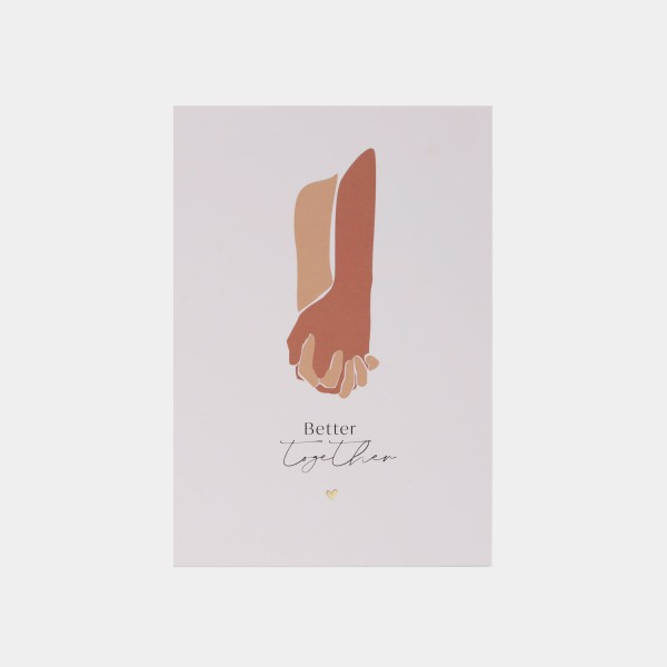 "JO & JUDY Postcard ""Better together"""