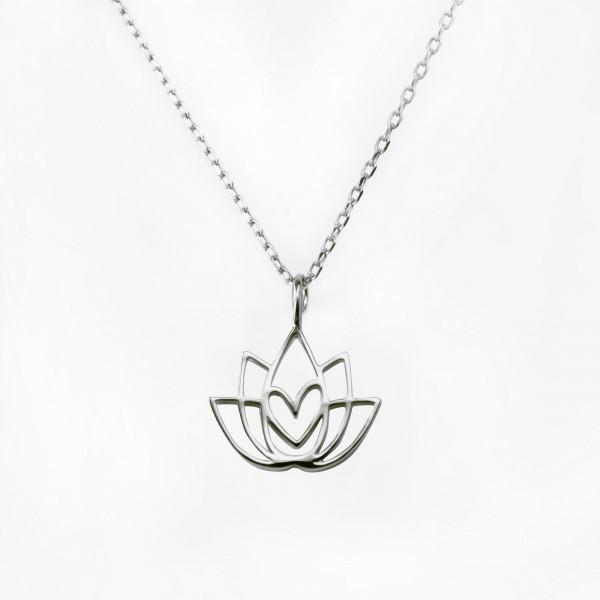 JO & JUDY – Lotus Flower Necklace SIlver