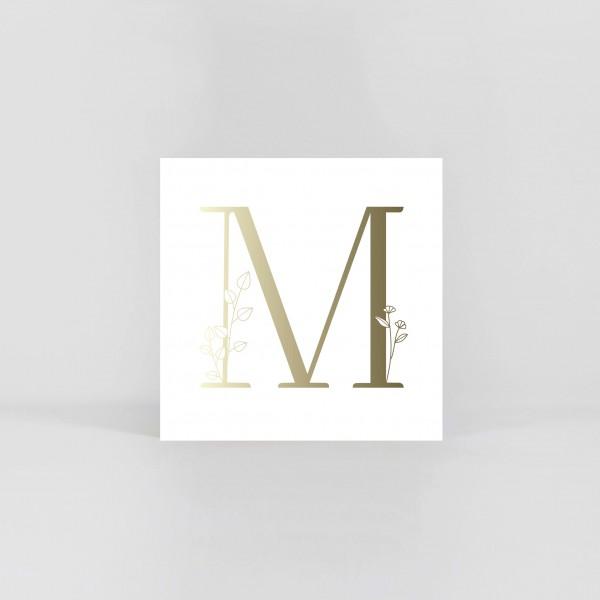 "JO & JUDY – Letter Postcard ""M"""