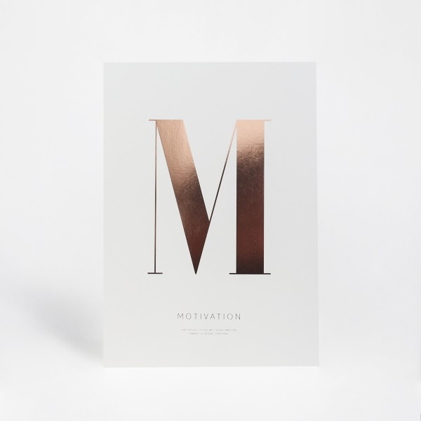 "Letter Print A3 ""M"" Rose"