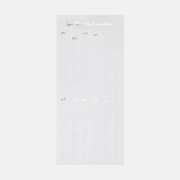 Poster Calendar 2019 Grey & White