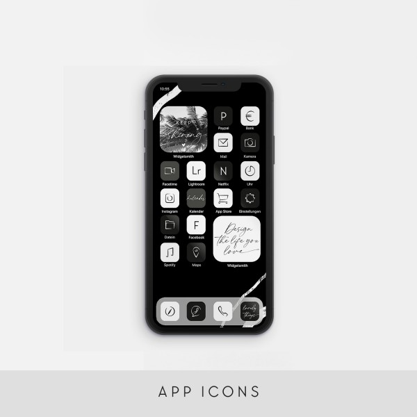 "App Icons ""Black & White"""