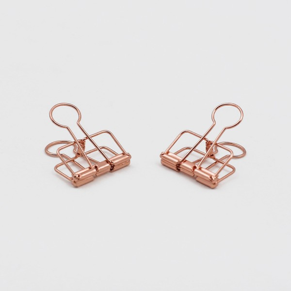Document Clips Rose Gold