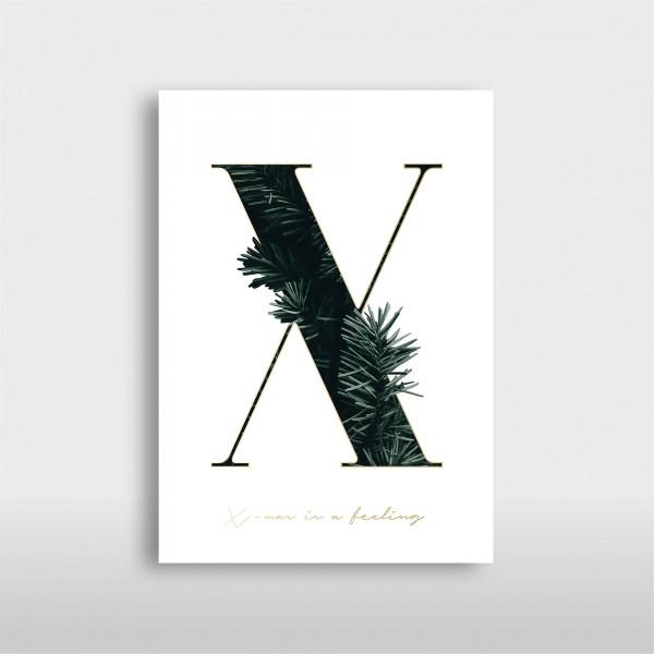 """Letter Print A3 """"X"""" Green – JO & JUDY"""