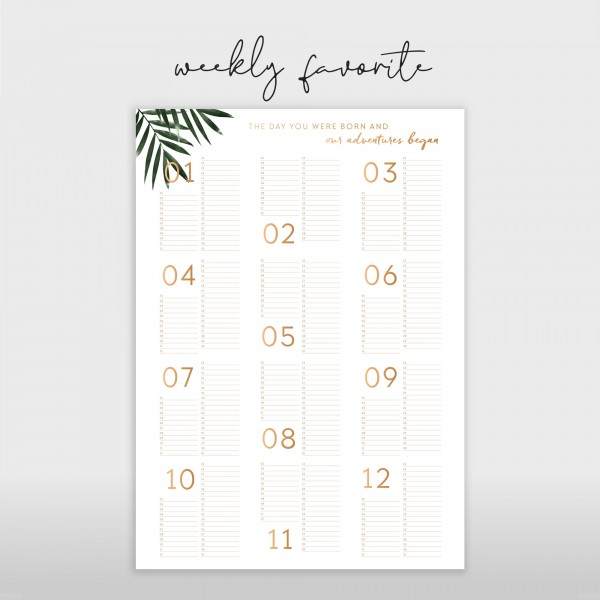Weekly Favorite: Birthday Calendar 50x70cm