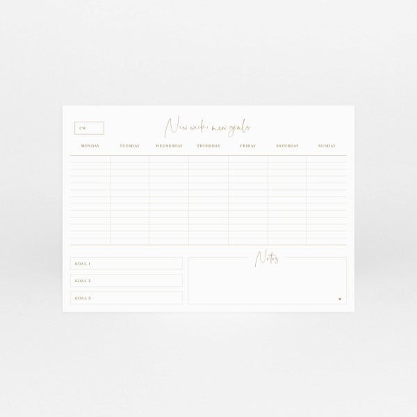 """Notepad A4 """"Weekly Planner"""""""