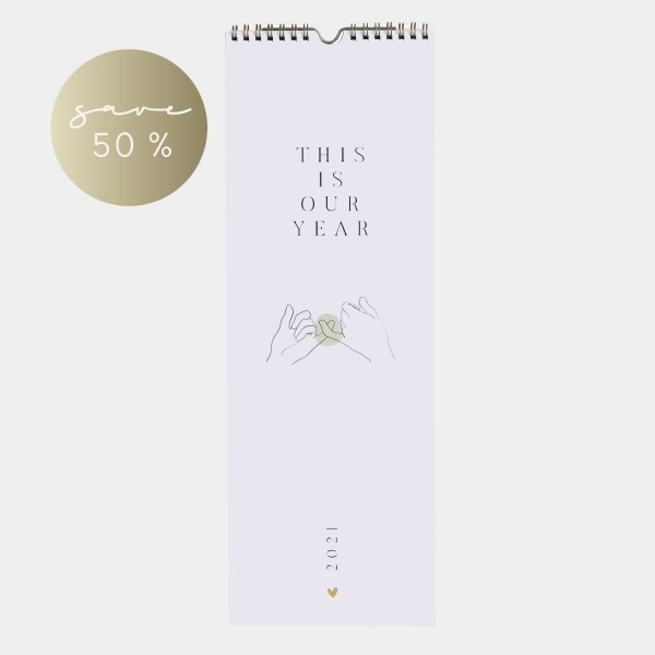 """Wandkalender 2021 """"Our year"""""""