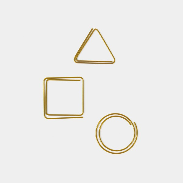 Paper Clips Set of 3 Gold