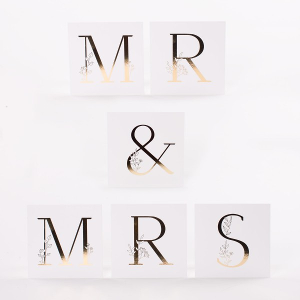 "Letter Postcards Set ""Mr & Mrs"""