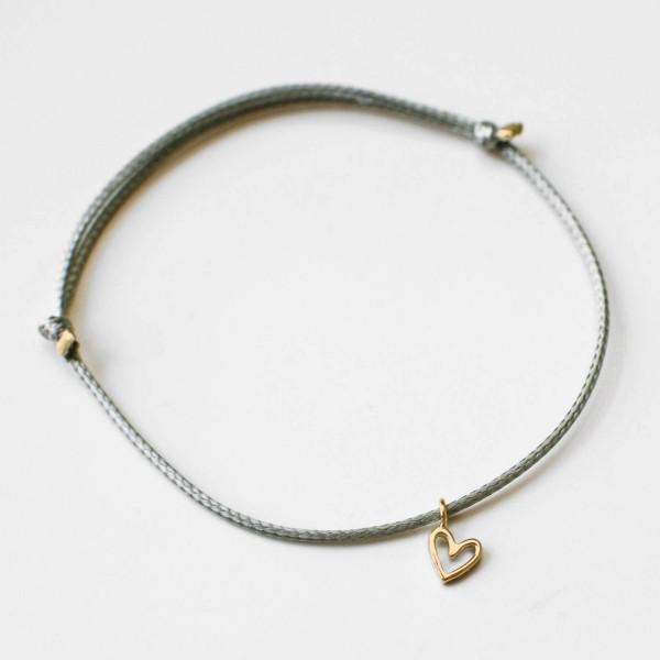 "Glücksbringer Armband ""Heart"" Gold"