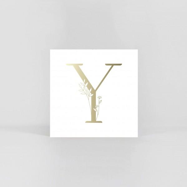 """JO & JUDY – Letter Postcard """"Y"""""""