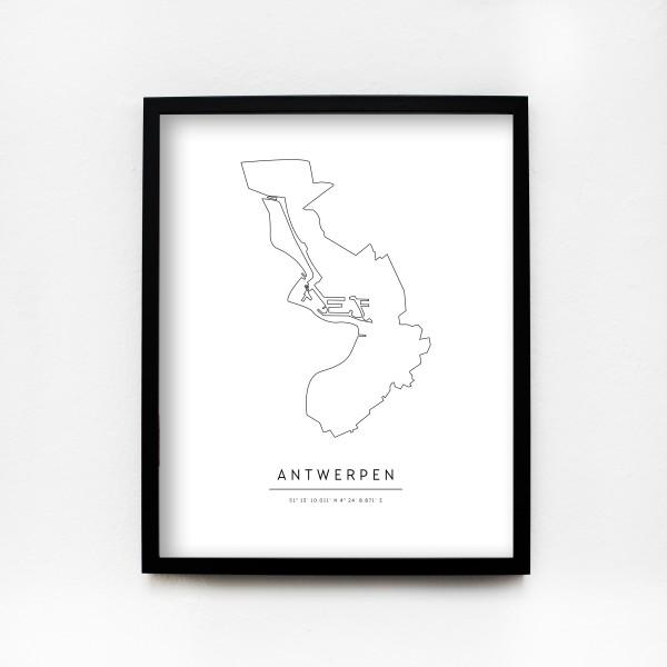 "JO & JUDY – City Poster 40 x 50 cm ""Antwerp"""