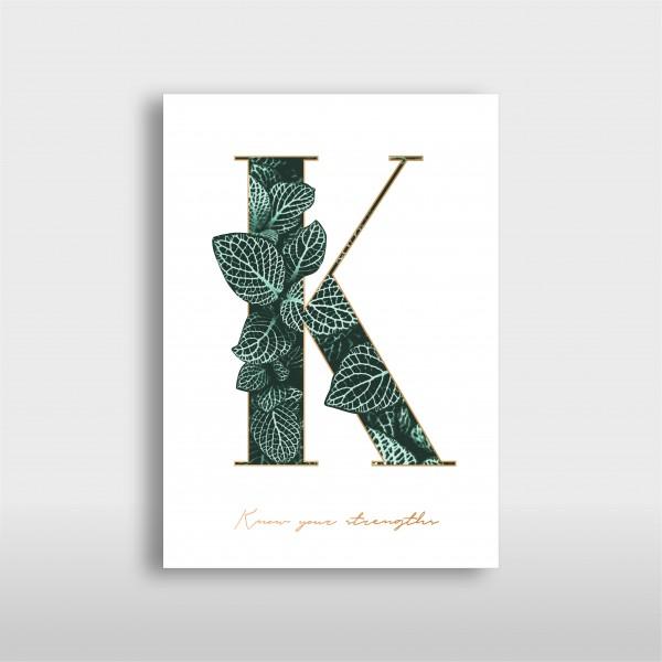 "JO & JUDY - Letter Print ""K"" - Green"