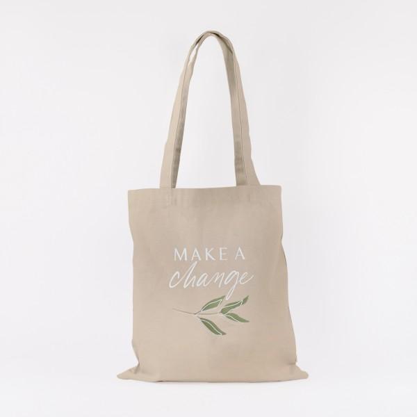 """Cotton Bag """"Make a change"""""""