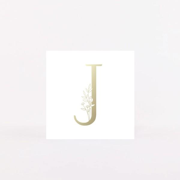 """Postcard """"J"""""""