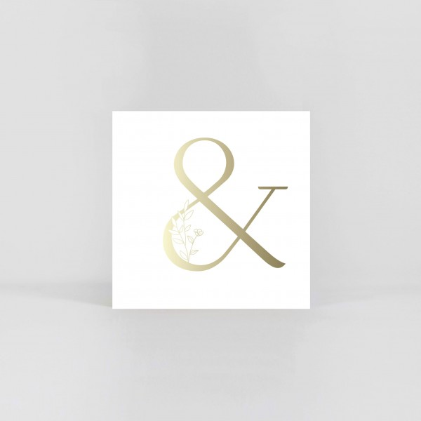 """JO & JUDY – Symbol Postcard """"&"""""""