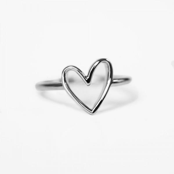 JO & JUDY – Heart Ring Silver