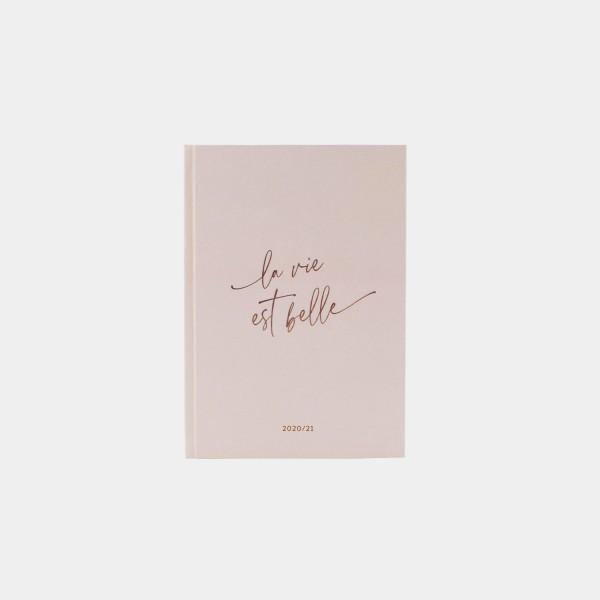 "Calendar 2020/2021   A5 ""La vie"" Pink"