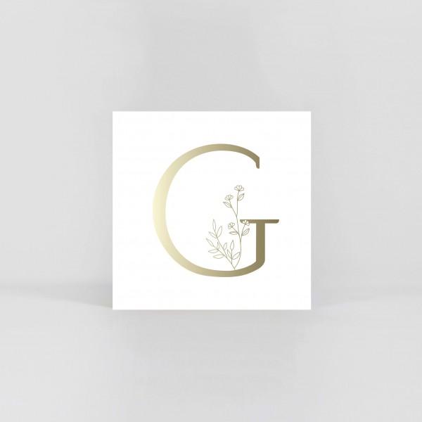 "JO & JUDY – Letter Postcard ""G"""