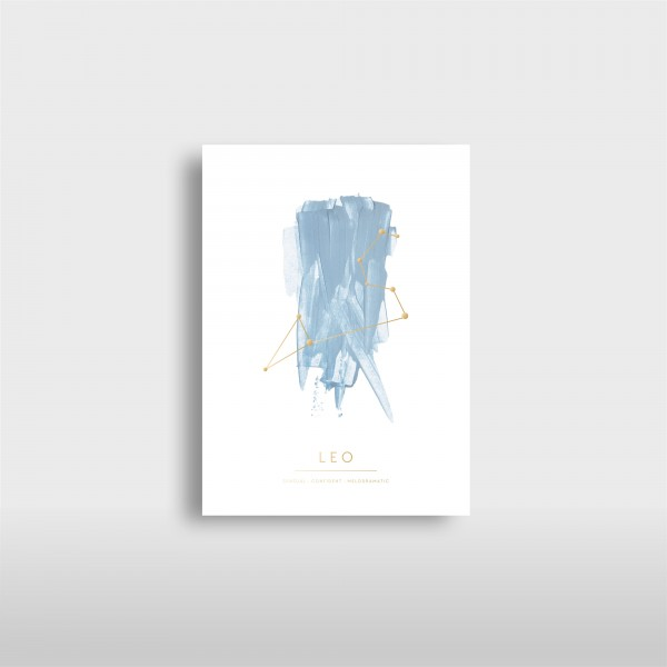 "JO & JUDY - Card ""Leo"" - Stars & Cities"