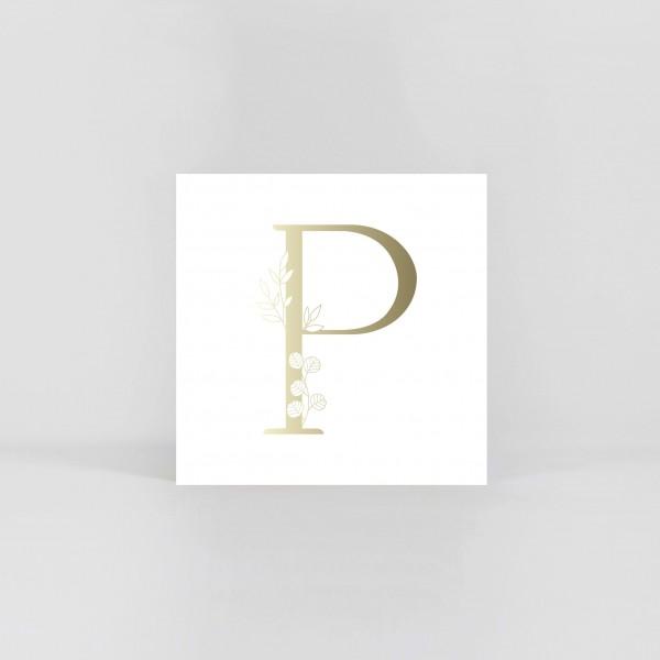 """JO & JUDY – Letter Postcard """"P"""""""