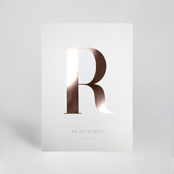"JO & JUDY – Letter Print ""R"" Rose Gold"