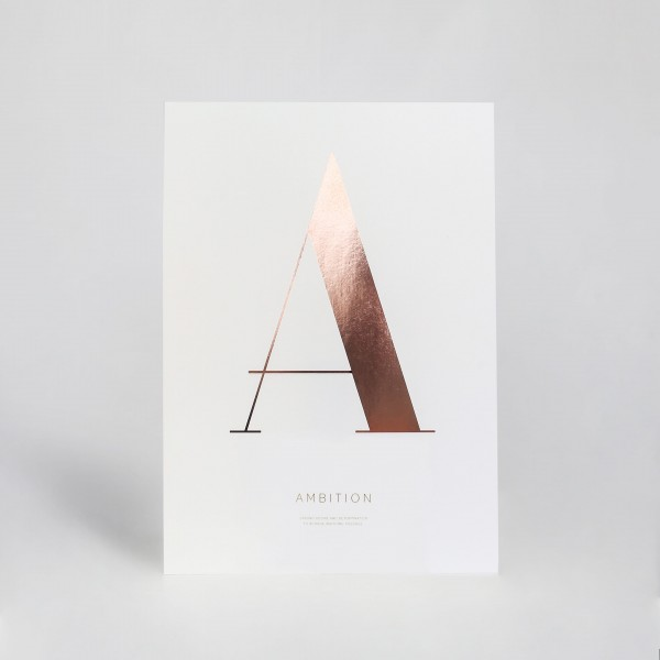 "JO & JUDY - Letter Print ""A"" - Rose Gold"