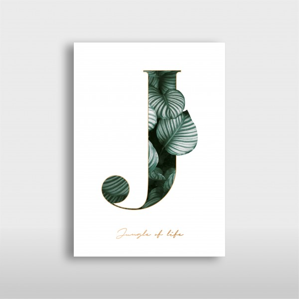 """JO & JUDY - Letter Print """"J"""" - Green"""